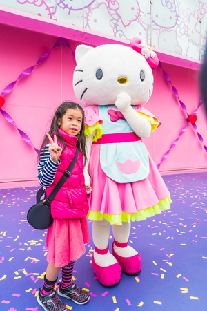 HI: Osaka, Japan - NOV 21 2016 : The theme park attractions based on the film industry at Universal Studios Theme Park in Osaka, Japan. Editorial