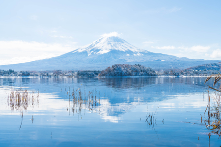 Mountain Fuji San at  Kawaguchiko Lake in Japan.