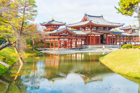 unesco world heritage site: Beautiful Architecture Byodo-in Temple at Kyoto Japan. Editorial
