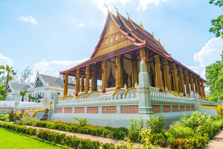 kaew: Beautiful Architecture at Haw Phra Kaew Temple, Vientiane, Laos