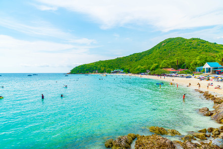 beautiful tropical beach at Koh Larn in Pattaya, Thailand.