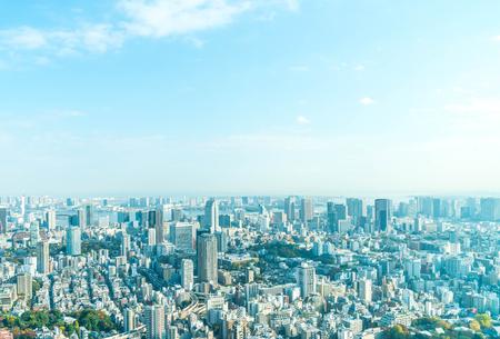 Tokyo city skyline with Tokyo Tower, Tokyo Japan Stok Fotoğraf