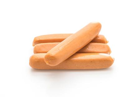 frankfurter sausage isolated on white background