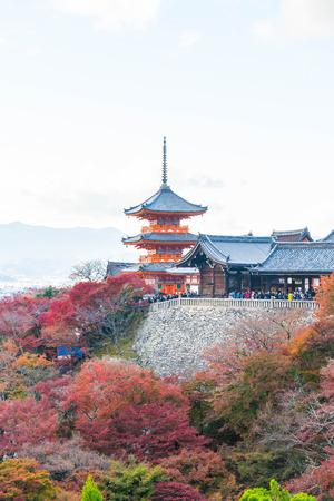 Kiyomizu or Kiyomizu-dera temple in autum season at Kyoto, Japan.