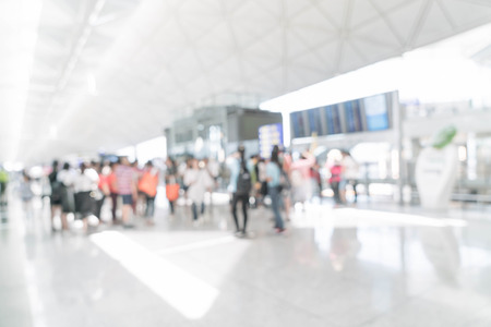 abstract blur in airport for background