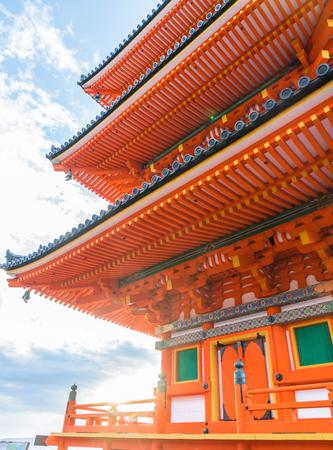 shinto: Beautiful Architecture in Kiyomizu-dera Temple Kyoto, Japan