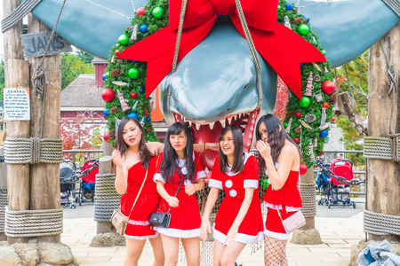 OSAKA, JAPAN - Nov 21, 2016 : Photo of the JAWS,one of the most famous attraction at Universal Studios in Osaka, Japan.