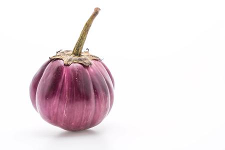 fresh eggplant on white background