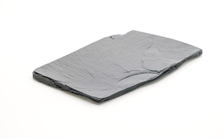 Slate plate isolated on white background Stock Photo