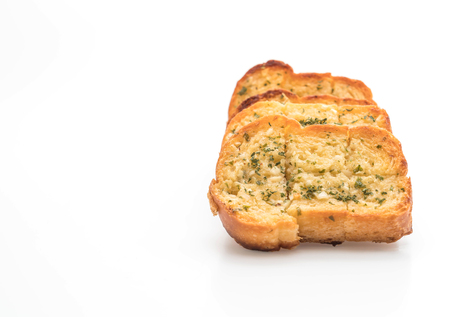 garlic bread isolated on white background