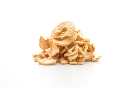 dried apple chips isolated on white background Stock fotó