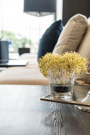 flower in vase decoration in living room
