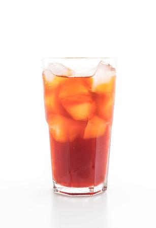 lemon iced tea isolated on white background Stock Photo