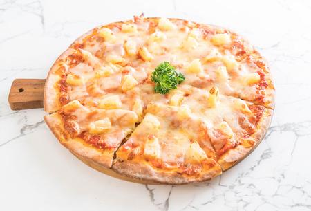hawaiian pizza on table - Italian food style