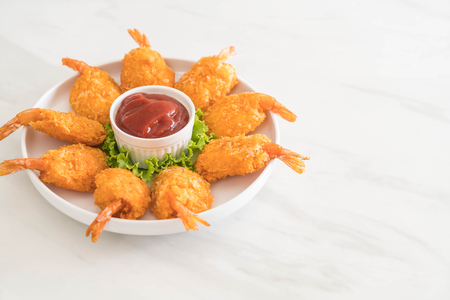 deep fried shrimp with sauce