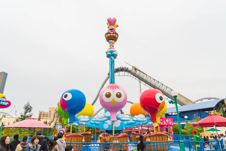 Osaka, Japan - NOV 21 2016 : The theme park attractions based on the film industry at Universal Studios Theme Park in Osaka, Japan. Editorial