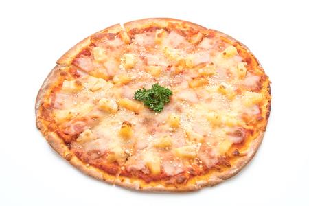 hawaiian pizza isolated on white background