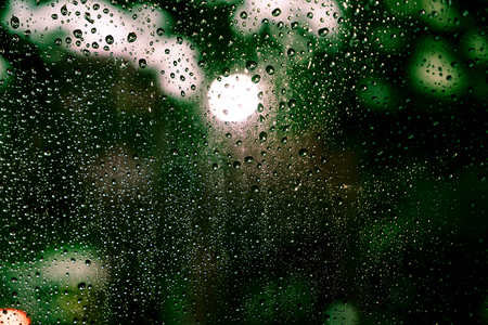 Rain drops on the window - vintage effect filter