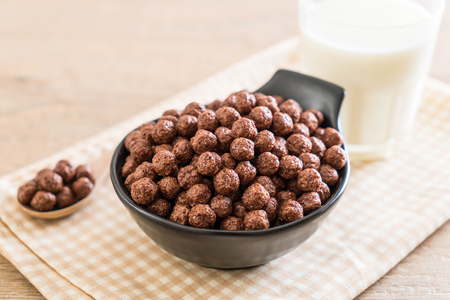 chocolate cereal bowl for breakfast Stock Photo