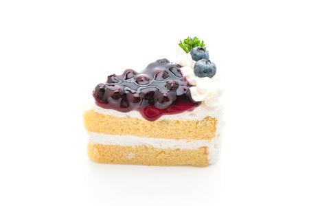 blueberry cake isolated on white background