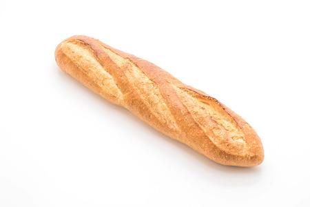 白い背景に孤立したバゲットパン