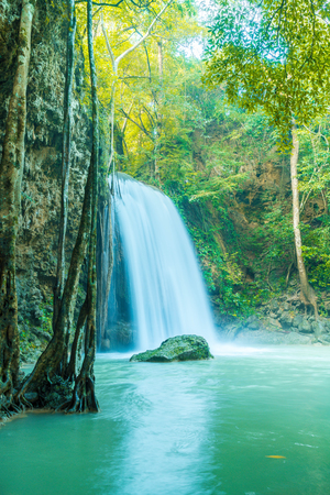 kanchanaburi: Beautiful Erawan Waterfall, Erawan National Park at Kanchanaburi in Thailand