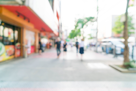 abstract blur and defocused at Siam Square in Thailand for background