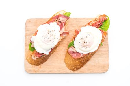 benedict: egg benedict isolated on white background