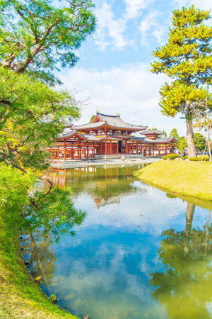 Beautiful Architecture Byodo-in Temple at Kyoto Japan. Stok Fotoğraf