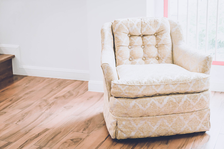 old armchair decoration  in home - vintage effect Stock Photo