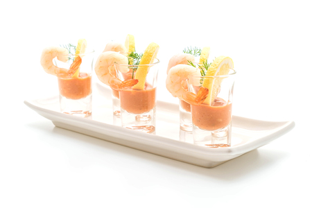 shrimp cocktail isolated on white background