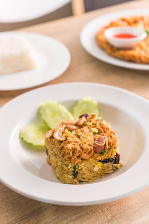pineapple fried rice on plate