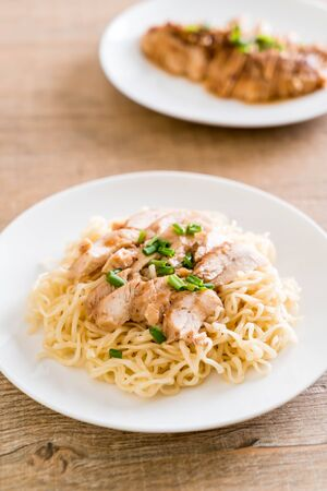 roast chicken noodle - asian food style
