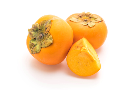 fresh persimmon isolated on white background