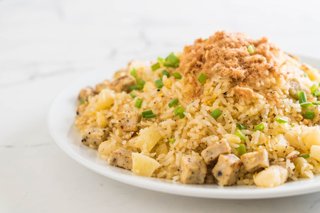 pineapple fried rice with dried shredded pork Stock Photo