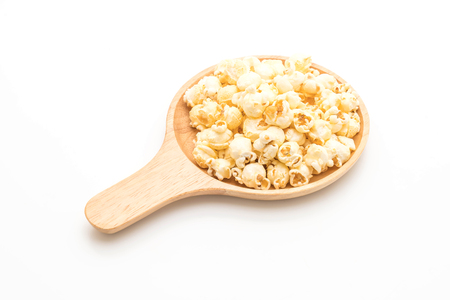 sweet popcorn isolated on white background
