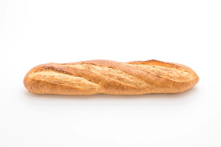 baguette bread isolated on white background