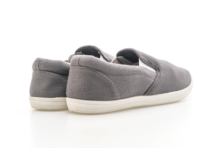 grey sneakers isolated on white background 写真素材