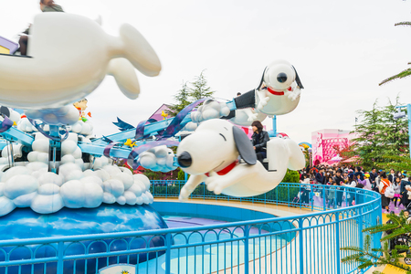 Osaka, Japan - NOV 21 2016 : The theme park attractions based on the film industry at Universal Studios Theme Park in Osaka, Japan. Archivio Fotografico