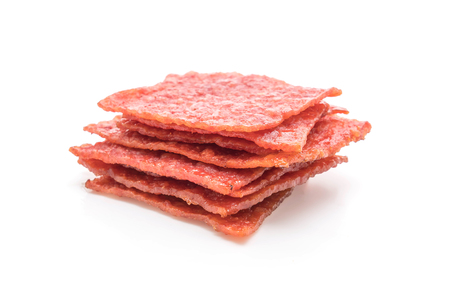sweet pork sheet isolated on white background