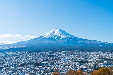 Mountain Fuji San at Kawaguchiko, Japan. Stock Photo