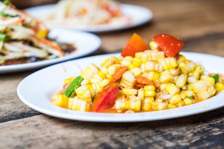 spicy papaya salad - Thai food style Stock Photo