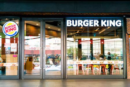 Bangkok, Thailand - 26 Jan 2018 : Burger King, Often Abbreviated As BK, Is a Global Chain Of Hamburger Fast Food Restaurants.
