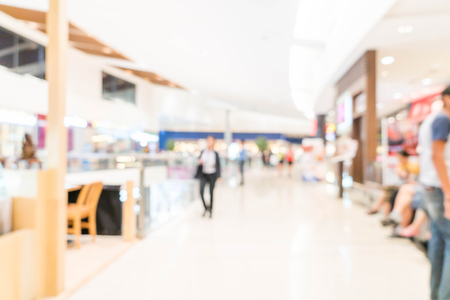 abstract blur and defocused shopping mall and retail store for background