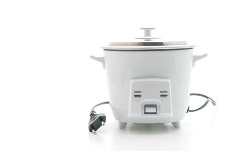 rice cooker isolated on white background Stock Photo