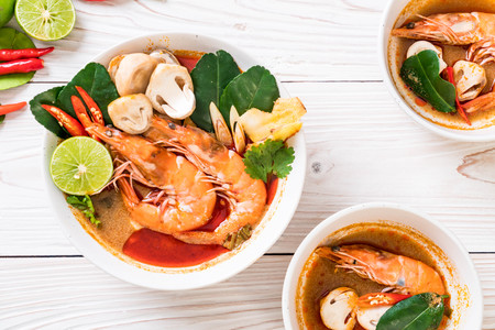 Tom Yum Goong Spicy Sour Soup - Thai food style