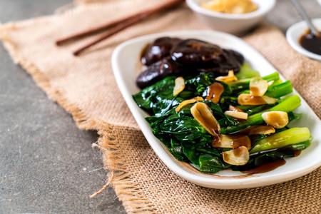 Hong Kong Kale stir fried in oyster sauce with garlic