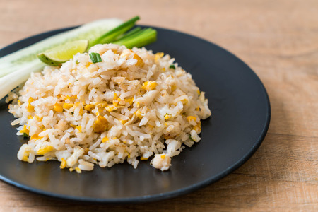 Fried rice with Crab on plate
