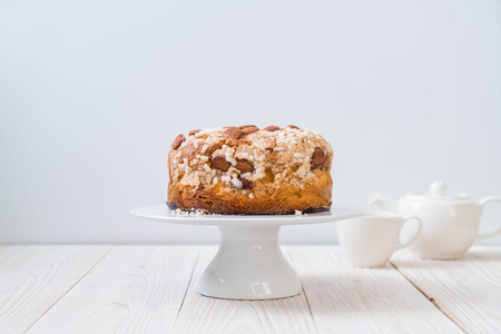 raisin bread cake with almond - Italian dessert style