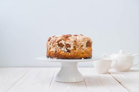 raisin bread cake with almond - Italian dessert style